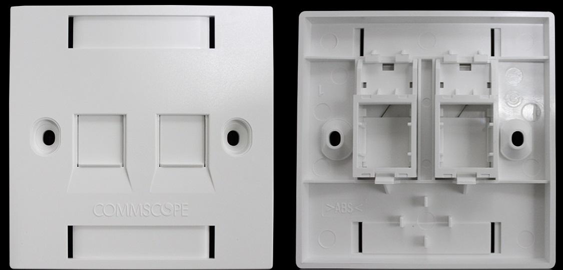 Mặt 2 Port Wallplate Commscope Face Plate 1859050-1 mặt nạ vuông