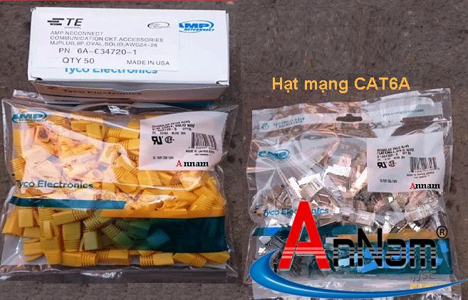 Bộ hộp hạt mạng + chụp Rj45 Cat6A chống nhiễu