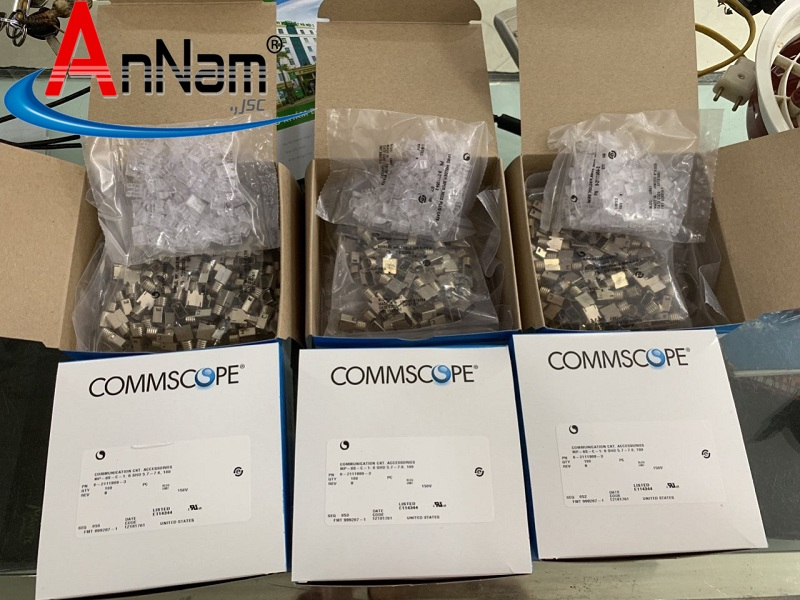 Hạt Mạng Commscope MP-6AS-B-1 6-2111981-3 Modular Plug, Category 6, Shielded Chính Hãng-hạt 3 mảnh