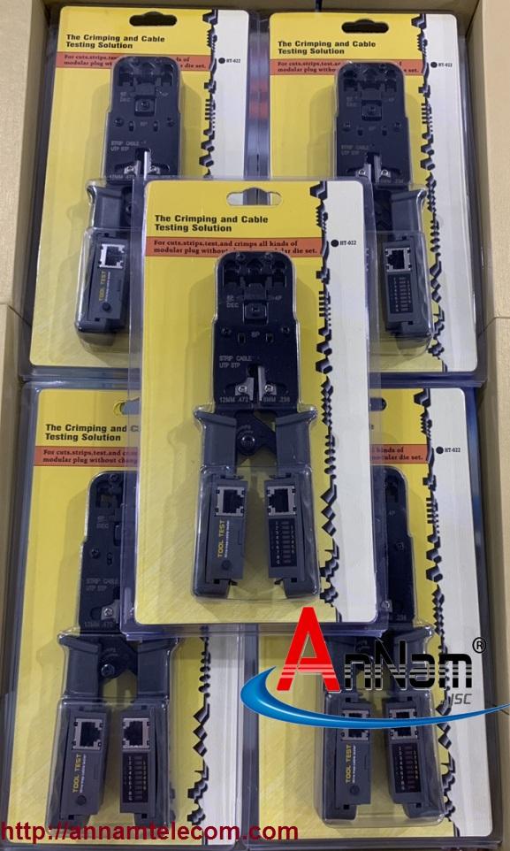 KÌM MẠNG ĐA NĂNG HT-022 TÍCH HỢP BẤM+TEST RJ11-RJ12-RJ45 TOOL TEST