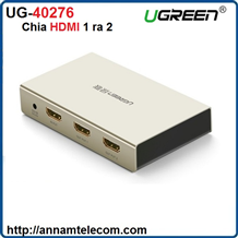 Bộ chia HDMI 1 ra 2 hỗ trợ 4Kx2K chính hãng Ugreen UG-40276 cao cấp