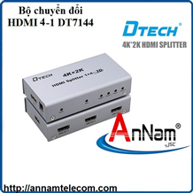 Bộ chia HDMI 1 ra 4 hỗ trợ 4K-2K chính hãng DTECH DT-7144