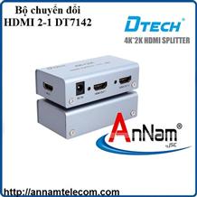 Bộ chia HDMI 2 cổng hỗ trợ trình chiếu 4K-2K DTECH DT-7142 chính hãng (1 ra 2)