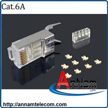 Bộ hộp Hạt mạng Cat6A chống nhiễu FTP có đuôi
