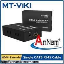 Bộ khuếch đại tín hiệu HDMI Extender MT-ED06 nối dài HDMI bằng cáp mạng tới 120m
