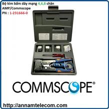 Bộ kìm bấm dây mạng 4,6, 8 chân AMP/Commscope