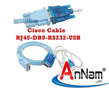 Cáp Cisco Rj45 đến DB9 và RS232 sang USB (2 trong 1) 1,8m-3M