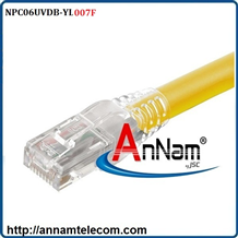 Dây nhảy patch cord AMP Cat6 7FT Yellow (NPC06UVDB-YL007F)