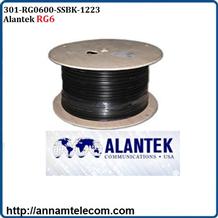 Cáp Đồng Trục Alantek ( 301-RG0600-SSBK-1223 ) RG6 Coaxial Cable 75 Ohms, 60% Braid, PVC Black