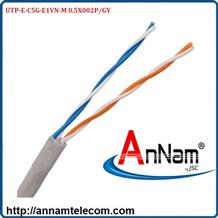 Cáp mạng 2 đôi LS CAT.5e U/UTP copper (UTP-E-C5G-E1VN-M 0.5X002P/GY) CÁP THOẠI LS