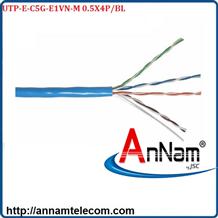 Cáp mạng 4 đôi LS CAT.5e U/UTP copper (UTP-E-C5G-E1VN-M 0.5X4P/BL, PVC, Blue)