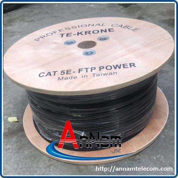 www.123nhanh.com: Cáp mạng liền nguồn Cat5e FTP + 2C lõi đồng ngoài trời