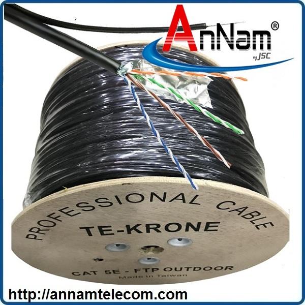 Cáp mạng TE-KRONE Cat5E CAA(Hợp kim) ngoài trời có sợi thép cường lực