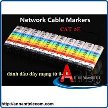 Đánh dấu dây mạng Cat5 số từ 0-9(bằng nhựa loại kẹp)
