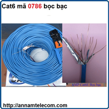 Dây cáp mạng cat6 mã 0786 loại bọc bạc, cable mạng cat6 0786-Cáp nhôm bọc bạc