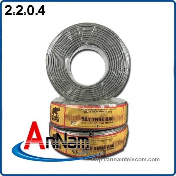www.123nhanh.com: Dây điện thoại 2 đôi - 2 pair (4 lõi 2x2x0.4) Vinacap