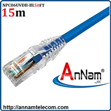Dây nhảy patch cord 15m Cat6 Blue (NPC06UVDB-BL050F) commscope