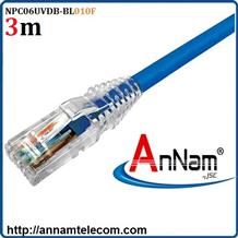 Dây nhảy patch cord 3m Cat6 Blue (NPC06UVDB-BL010F) commscope