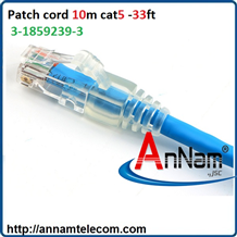 Dây nhảy Patch cord COMMSCOPE/AMP Cat5e 10m - P/N: 3-1859239-3
