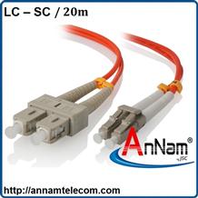 Dây nhảy quang 20m Multimode LC-SC Duplex, Patchcord LC-SC Duplex OM2 lõi 2.0 hoặc 3.0