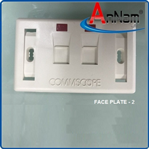 Faceplate Mặt nạ outlet 2 cổng Commscope