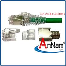 Hạt Mạng AMP ( 6-2111989-3 ) Modular Plug, Category 6, Shielded Chính Hãng-hạt 3 mảnh