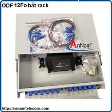 Hộp phối quang ODF 12 FO khay trượt lắp tủ rack