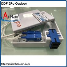 Hộp phối quang ODF 2Fo ngoài trời vỏ nhựa đầy đủ phụ kiện