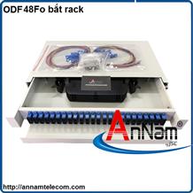 Hộp phối quang ODF 48 FO khay trượt lắp tủ rack