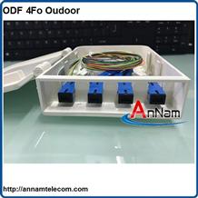 Hộp phối quang ODF 4Fo ngoài trời vỏ nhựa đầy đủ phụ kiện