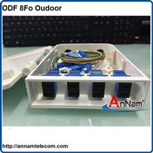 Hộp phối quang ODF 8Fo ngoài trời vỏ nhựa đầy đủ phụ kiện