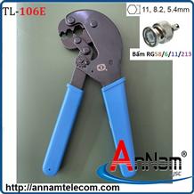 Kìm bấm cáp đồng trục BNC mã TL-106E bấm RJ58/6/11/213
