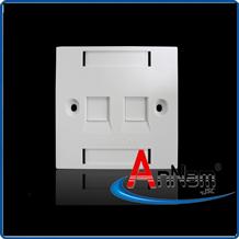 Mặt 2 Port Wallplate AMP Face Plate 1859050-1 mặt nạ vuông
