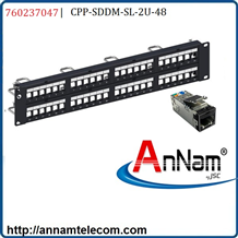 Module Panel Cat6A, STP, CPP-SDDM-SL-2U-48 port 60237047