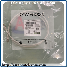NPC6ASZDB-WT001.5m. - NPC, Cat 6A, Cat7, Shielded, LSZH, White, 3M-Dây nhảy cat6A dài 1.5m commscope