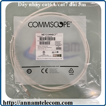 NPC6ASZDB-WT003M - NPC, Cat 6A, Cat7, Shielded, LSZH, White, 3M-Dây nhảy cat6A/cat7 dài 3m commscope