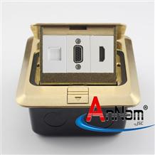 Ổ cắm âm sàn 3 cổng HDMI-VGA-LAN