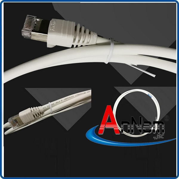 Patch Cord AMP/Commscope 10m RJ45 category 6, FTP, LSZH, white 1-1427226-1