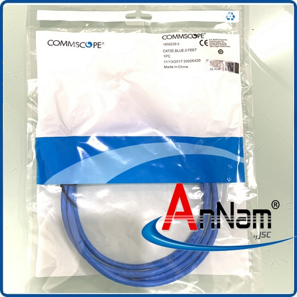 Patch Cord Commscope Cat5e 2.1m mã 1859239-7