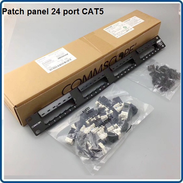Patch panel 24 port Cat5e COMMSCOPE P/N: 1479154-2