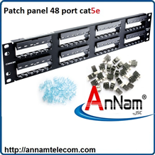 Patch panel 48 port CAT5e COMMSCOPE P/N: 1479155-2