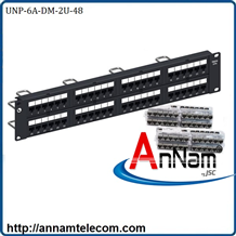 Patch Panel Cat6A chống nhiễu 48 port,UTP, 2U, 760162818  | UNP-6A-DM-2U-48