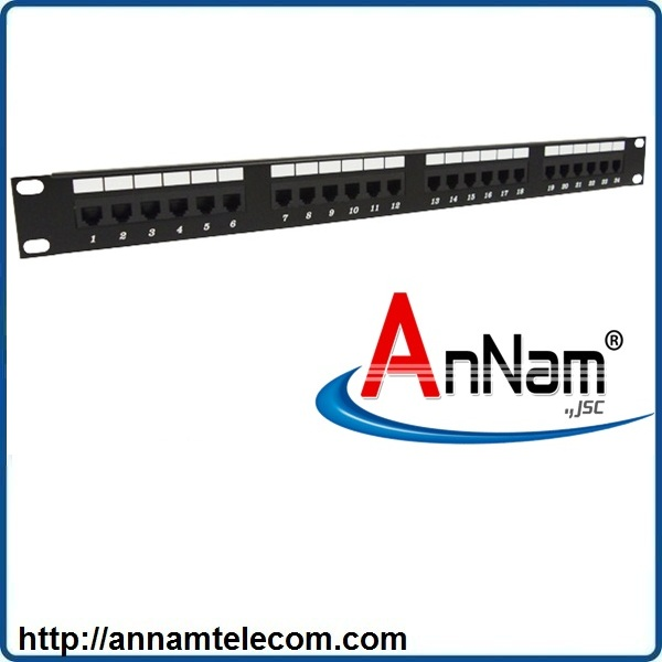 Patch Panel RJ11 Cat3 AMP 25port  P/N 1711213-3
