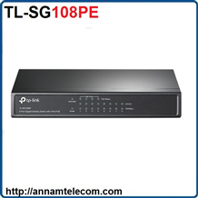 Switch Easy Smart 8 cổng Gigabit với 4 cổng PoE TL-SG108PE TP-LINK